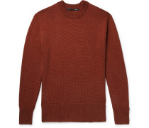 Zwart Slim-fit Wool And Alpaca-blend Sweater