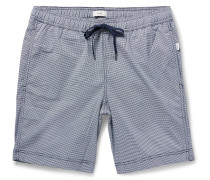 Charles Mid-length Micro-gingham Swim Shorts