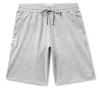 Mélange Loopback Pima Cotton-jersey Drawstring Shorts - Gray