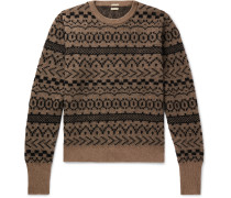 Cashmere, Mohair and Silk-Blend Jacquard Sweater