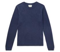 Berwick Slub Cotton-blend Sweater - Navy