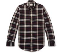 Flloyd Button-down Collar Checked Cotton-flannel Shirt