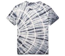 Tie-dyed Organic Cotton-jersey T-shirt - Blue
