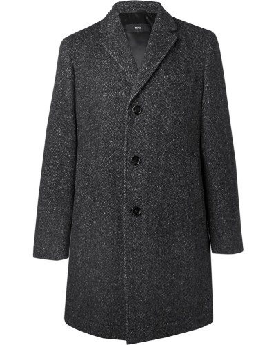 Shawn Slim-fit Herringbone Virgin Wool-blend Coat