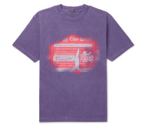 Printed Cotton-jersey T-shirt - Purple