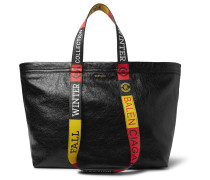 Arena Small Creased-leather Tote Bag