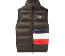 Sovex Slim-fit Colour-block Quilted Shell Down Gilet - Green