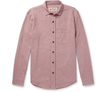 Mélange Brushed Cotton-twill Shirt - Red
