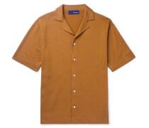Camp-Collar Cotton Shirt