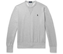 Mélange Fleece-back Cotton-blend Jersey Sweatshirt - Gray