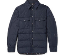 7 Moncler Fragment Maze Quilted Shell Down Jacket - Navy