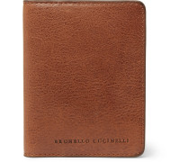 Burnished Full-grain Leather Bifold Cardholder