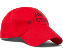 Logo-embroidered Cotton Baseball Cap - Red