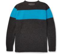 Striped Cashmere Sweater - Black