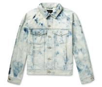 Washed Selvedge Denim Jacket - Light blue