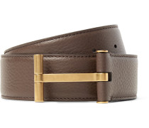 4cm Brown Full-grain Leather Belt