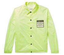 Appliquéd Shell Jacket - Bright yellow