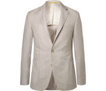 Stone Kei Slim-fit Wool And Linen-blend Suit Jacket