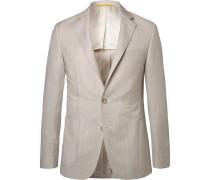 Stone Kei Slim-fit Wool And Linen-blend Suit Jacket - Beige