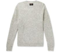 Mélange Mohair-Blend Sweater