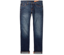 Jim Skinny-fit Selvedge Stretch-denim Jeans - Mid denim