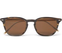 Heaton D-frame Two-tone Tortoiseshell Acetate Sunglasses