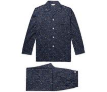 Ledbury Printed Cotton-Poplin Pyjama Set