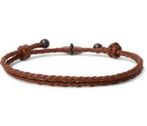 Intrecciato Leather Wrap Bracelet