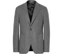 Grey Lloyd Slim-fit Mélange Wool-flannel Suit Jacket - Gray