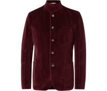Burgundy Cotton-velvet Blazer