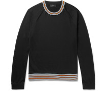 Contrast-trimmed Jersey Sweater