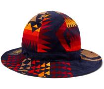 + Pendleton Printed Cotton-corduroy Bucket Hat - Navy