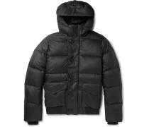 Ventoux Quilted Nylon Hooded Down Jacket - Black