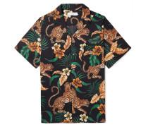 Camp-Collar Printed Organic Cotton Pyjama Shirt