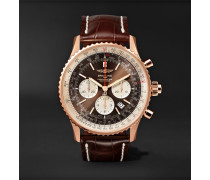 Navitimer 1 Rattrapante Chronometer 45mm 18-karat Red Gold And Crocodile Watch