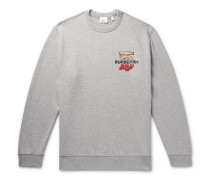 Logo-detailed Mélange Loopback Cotton-jersey Sweatshirt - Gray