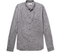 Striped Slub Cotton Shirt