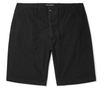Washed Cotton And Nylon-blend Shorts