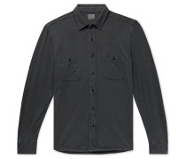 Seasons Slim-Fit Garment-Dyed Slub Cotton Shirt