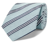 8.5cm Striped Cotton and Silk-Blend Tie