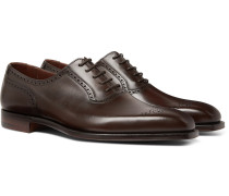 Anthony Leather Oxford Brogues - Dark brown