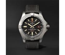 Avenger Blackbird Automatic 44mm Titanium and Canvas Watch, Ref. No. V1731110/BD74