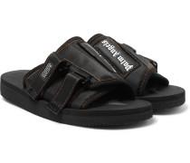 + Suicoke Kaw Logo-print Webbing-trimmed Nylon Slides - Black
