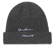 Logo-Embroidered Wool-Blend Beanie
