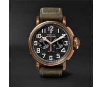 Pilot Type 20 Extra Special Chronograph 45mm Bronze and Nubuck Watch, Ref. No. 29.2430.4069/21.C800
