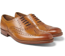 Dylan Leather Wingtip Brogues - Brown
