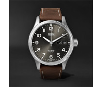 Big Crown ProPilot Day-Date Automatic 45mm Stainless Steel and Suede Watch, Ref. No. 01 752 7698 4063FC