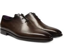Venezia Whole-Cut Leather Oxford Shoes