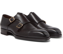 Elkan Leather Monk-strap Shoes