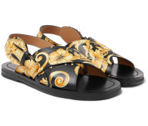 Printed Leather Sandals - Multi